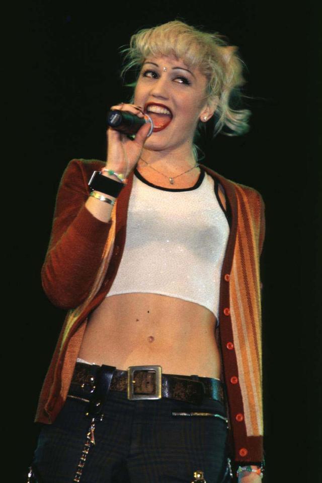 Gwen Stefani '90s cardigan outfits