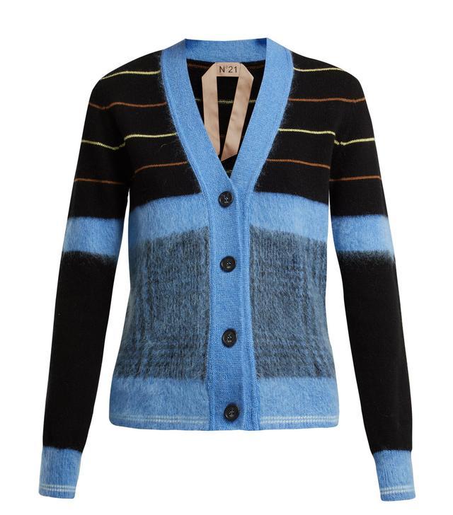 Striped Wool Cardigan