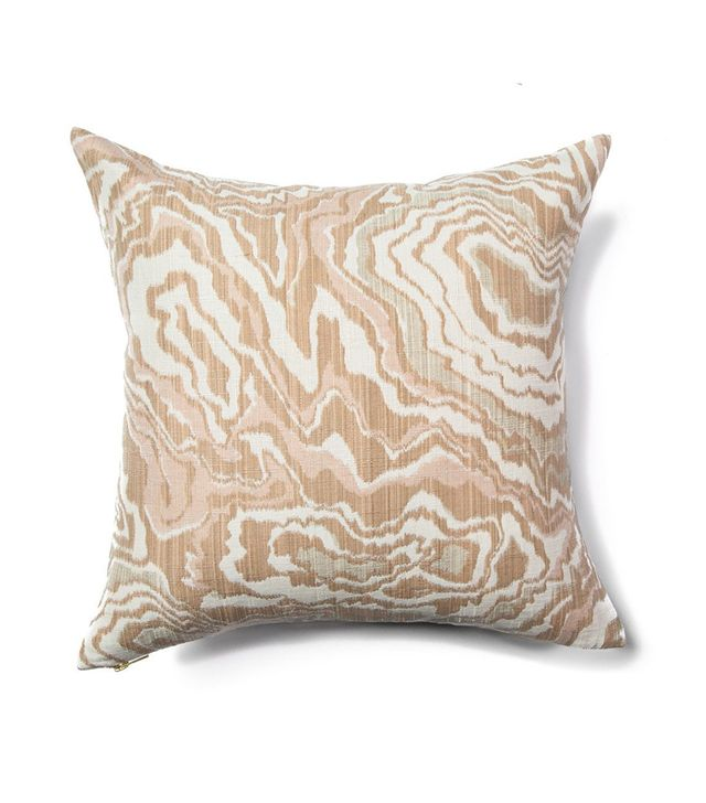 Rebecca Atwood Marble Geode Pillow in Blushing Taupe