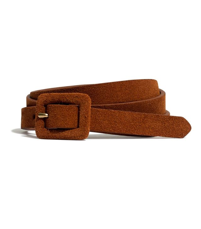 Madewell Suede Covered Buckle Belt