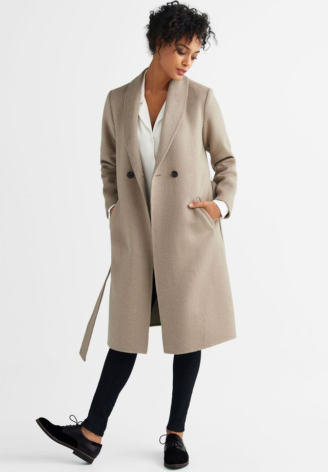 Ellos Double-Breasted Wool-Blend Coat