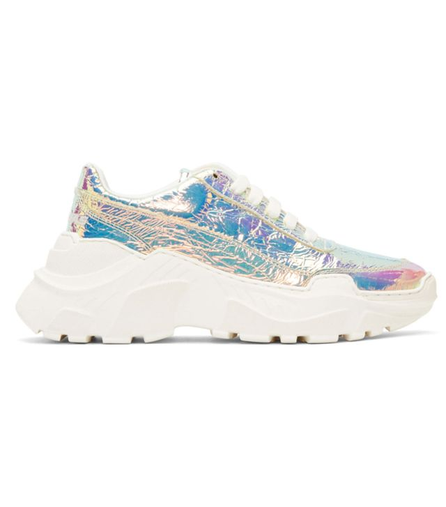Joshua Sanders Multicolor Holographic Zenith Light Sneakers