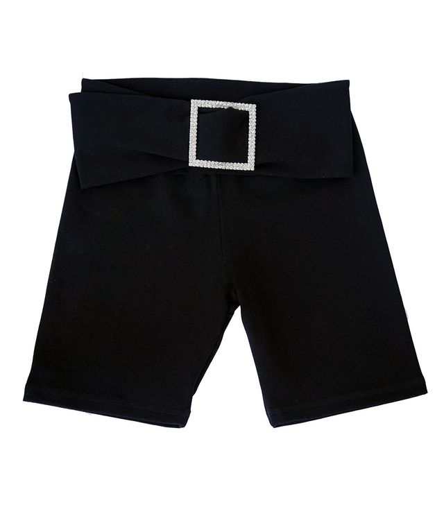Aya Muse Gara Black Cotton Shorts