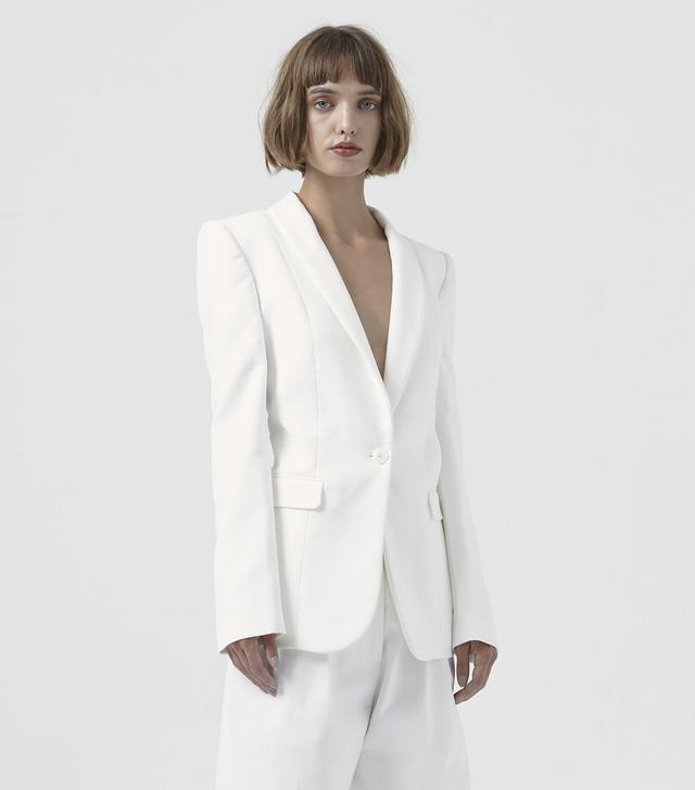 Katharine Hamnett Sofia White Organic Cotton Blazer