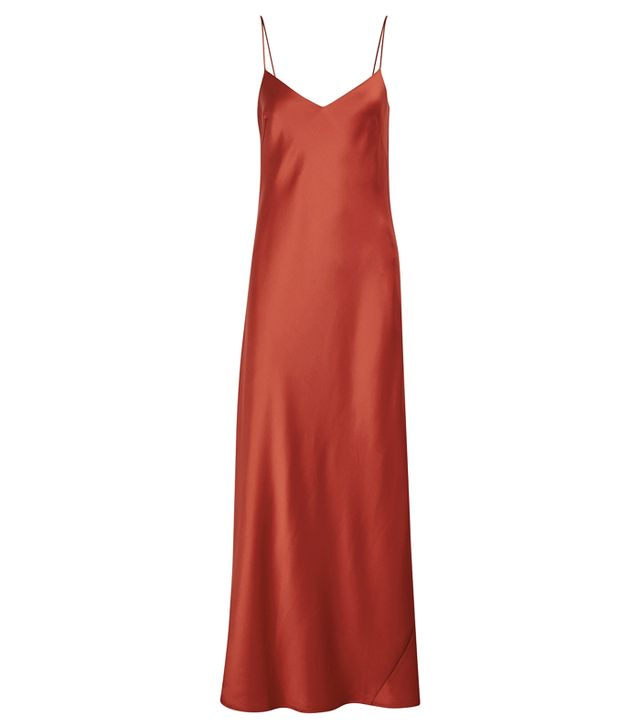Galvan Satin Slip Dress