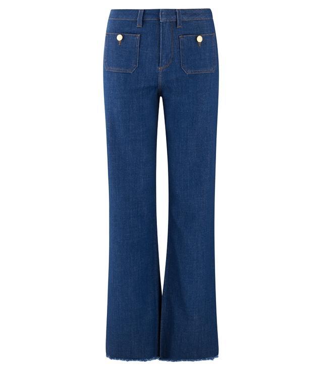 Me + Em Pocket Detail Flare Jeans