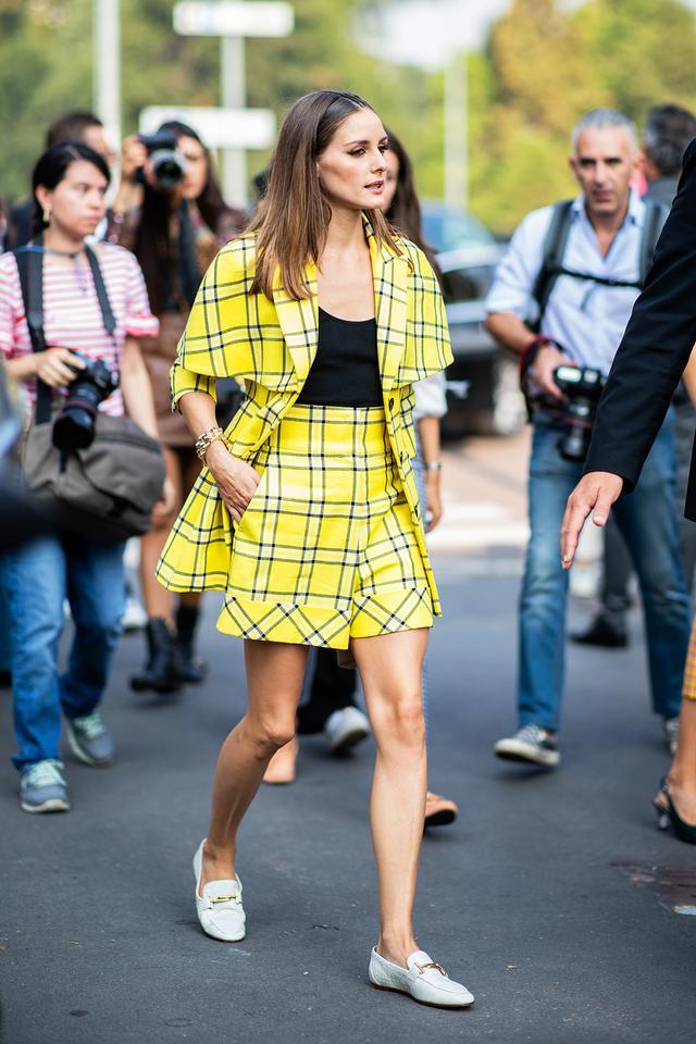 Olivia Palermo yellow matching set