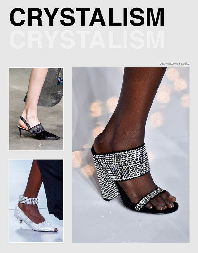 Spring shoe trends 2019: crystals