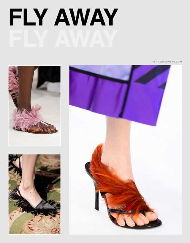 Spring shoe trends 2019: feathers