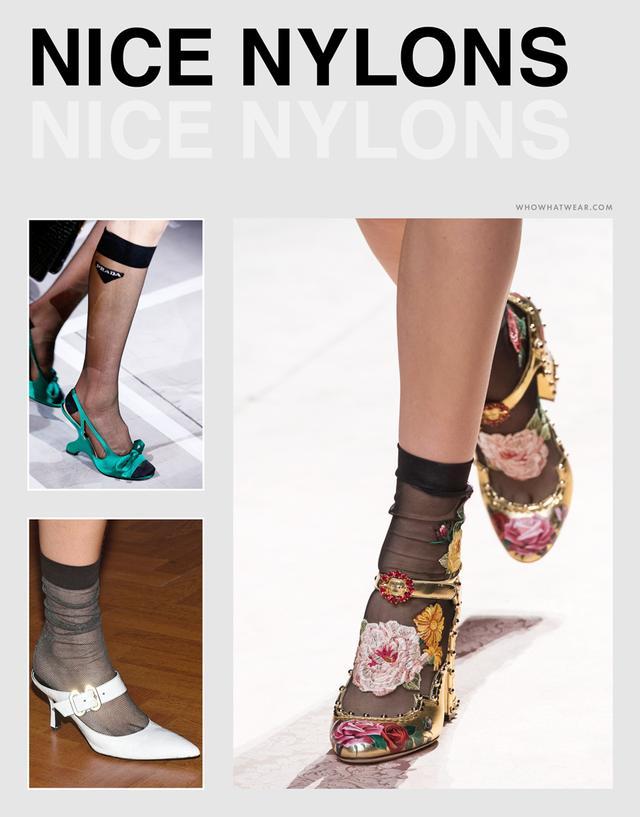 Spring shoe trends 2019 - nylon socks