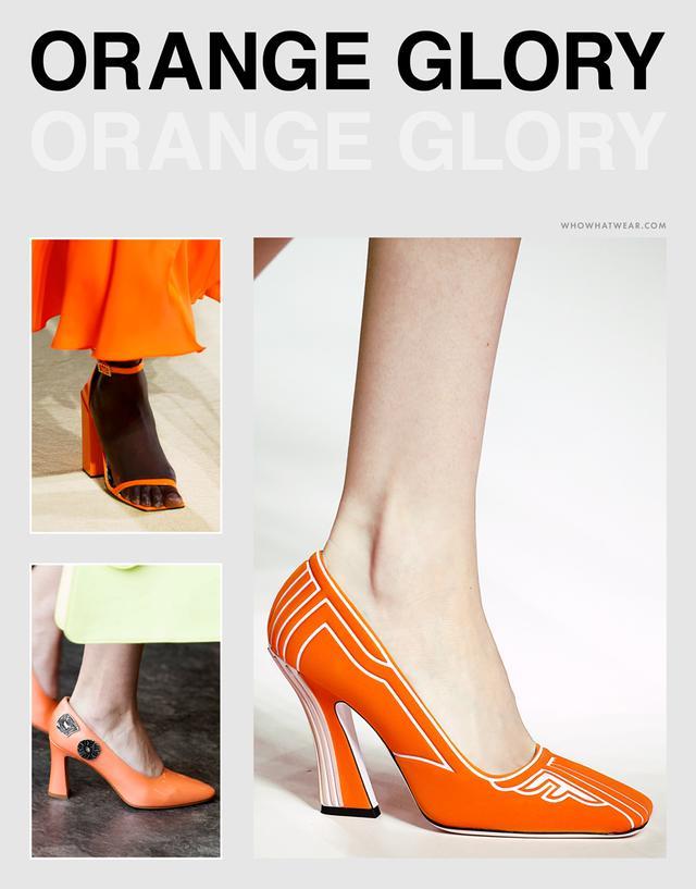 Spring shoe trends 2019: orange