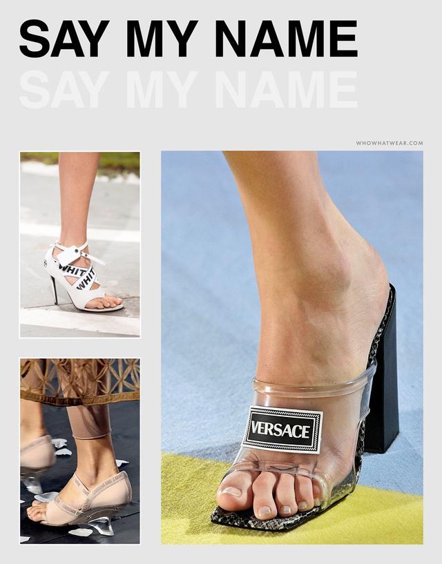 Spring shoe trends 2019 - logomania