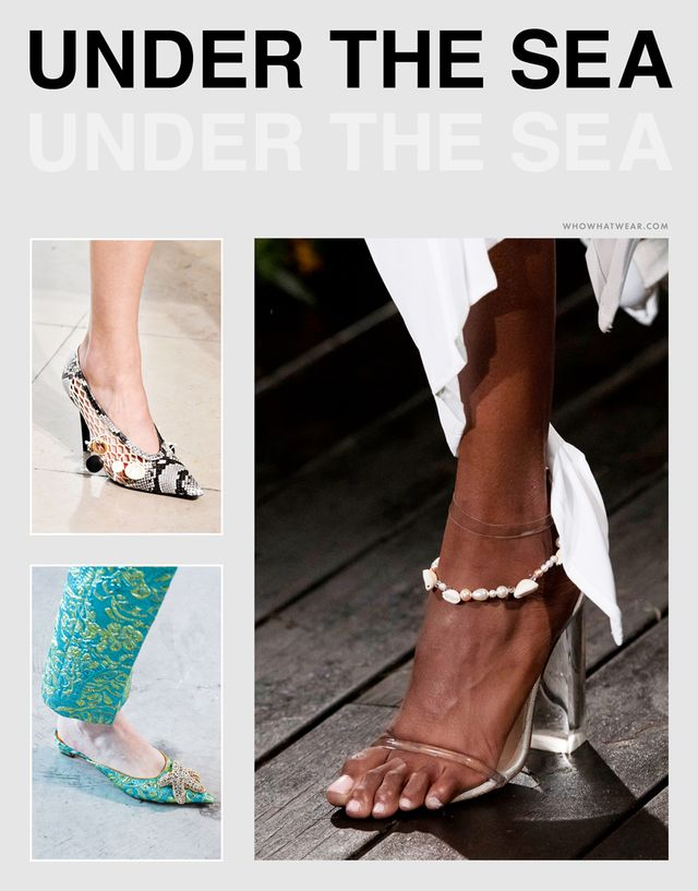 Spring shoe trends 2019 - under the sea