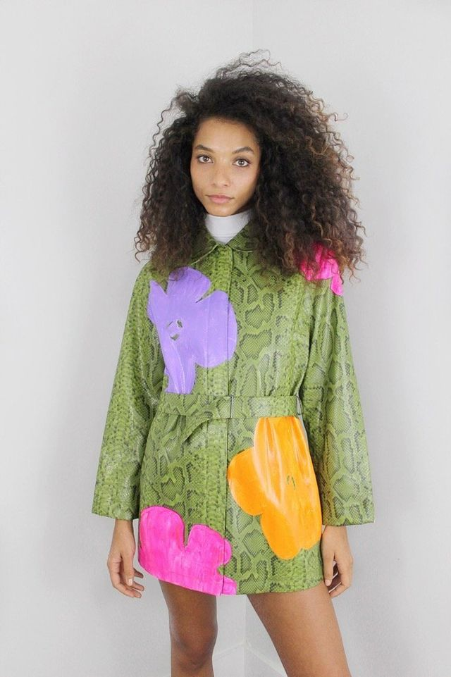 Dauphinette Kelly Hand-Painted Trench