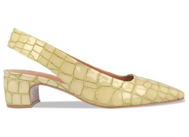 By Far Danielle Green Croco Patent Leather