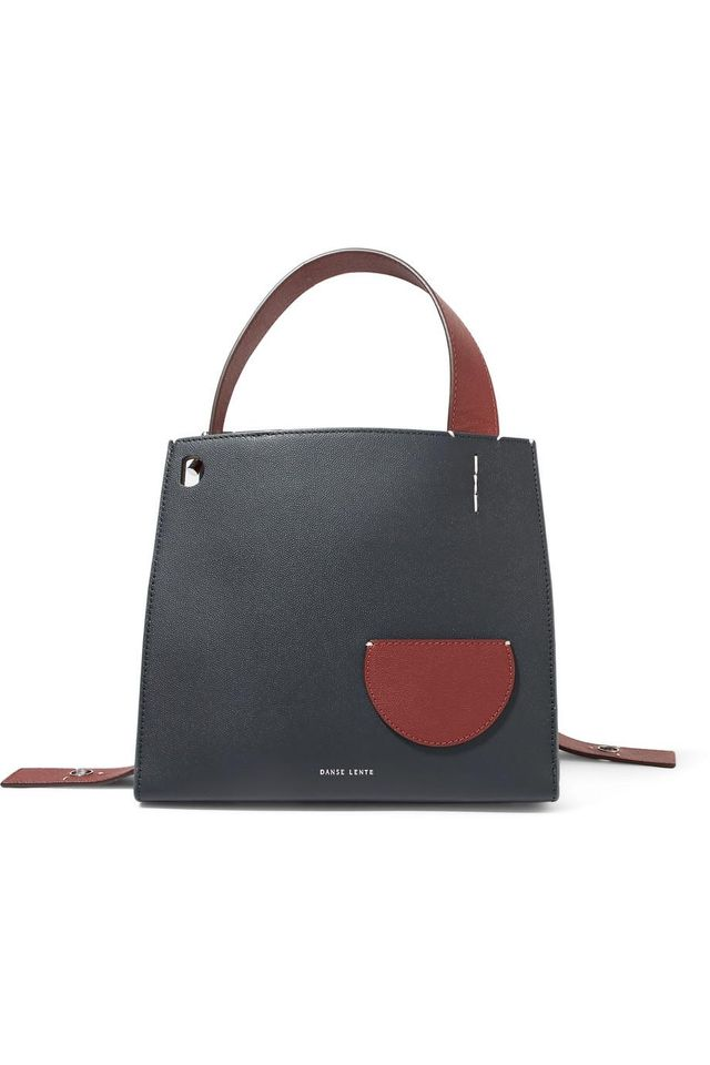 Margot Two-tone Textured-leather Tote