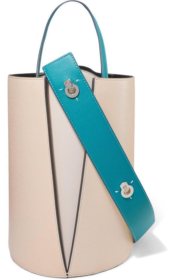 Lorna Mini Textured-leather Bucket Bag