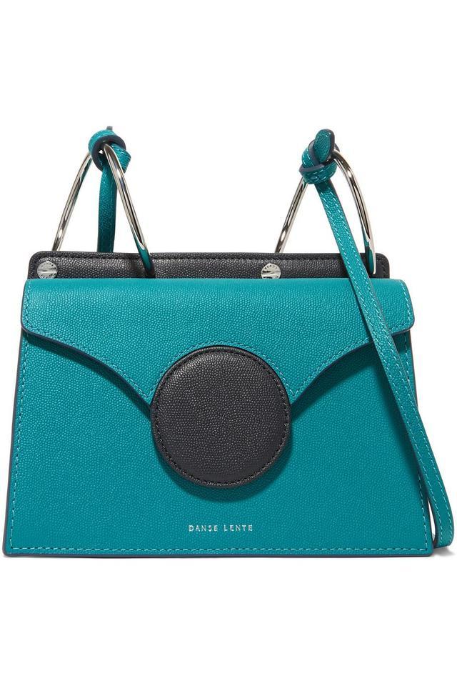 Phoebe Mini Color-block Textured-leather Shoulder Bag