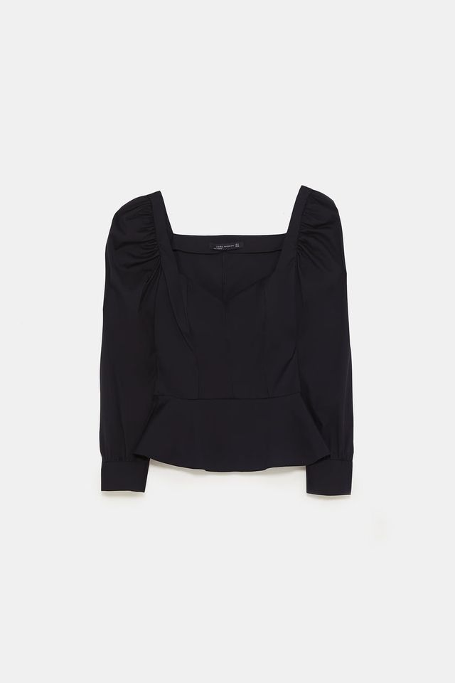 Zara Balloon Sleeve Top
