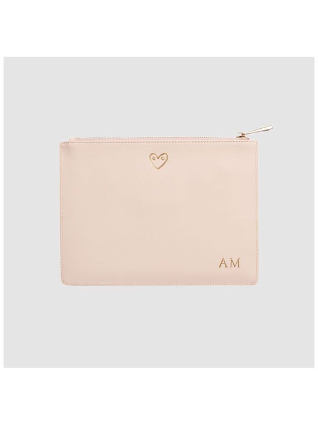 The Daily Edited Heart Pale Pink Pouch