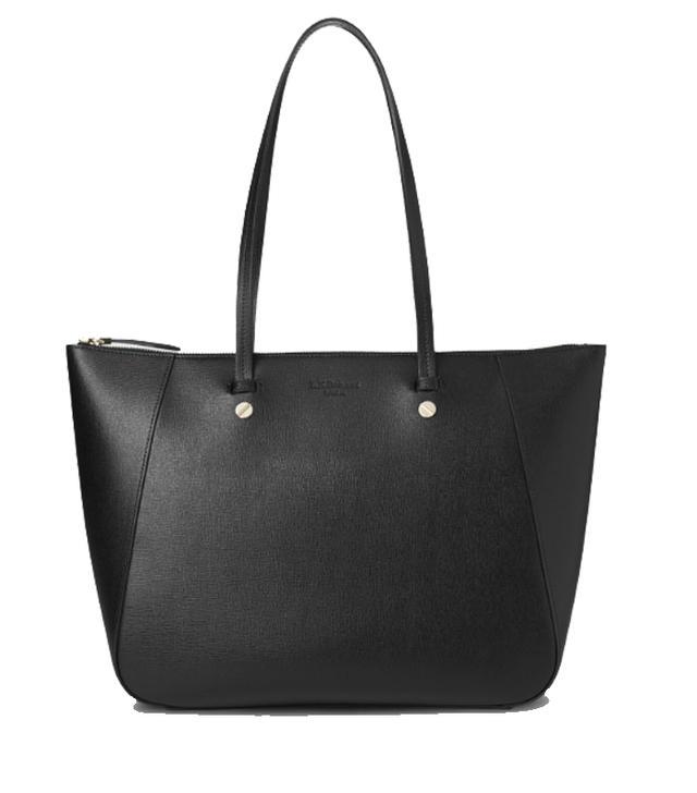 L.K.Bennett Marcia Black Leather Tote Bag