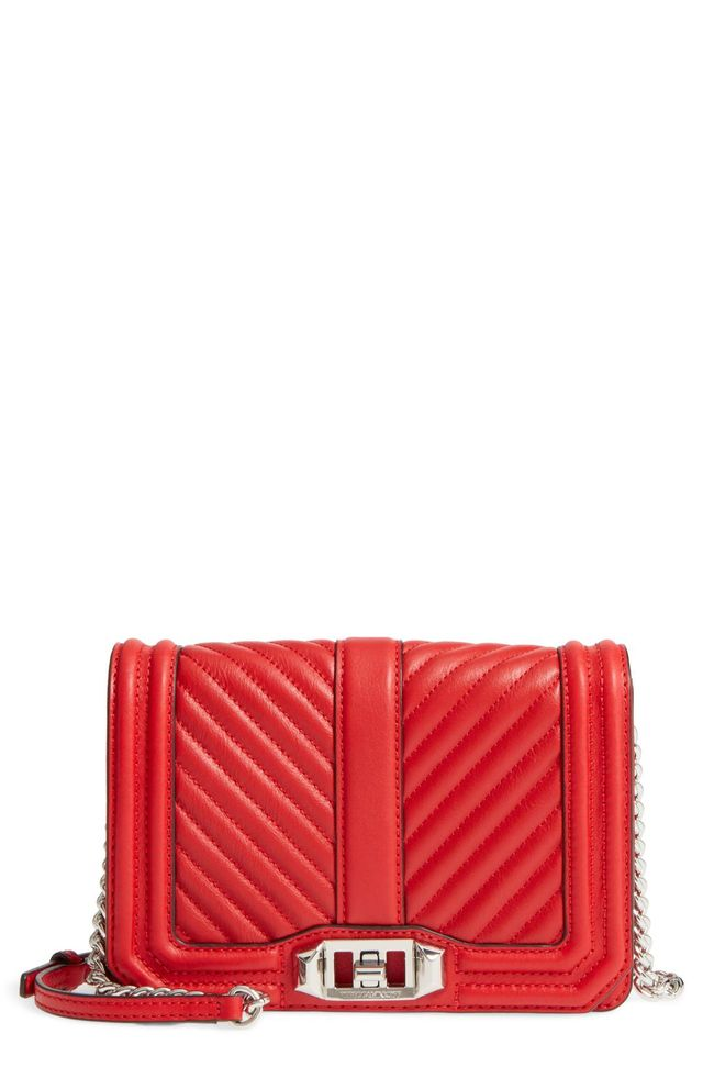 Small Love Quilted Leather Crossbody Bag -