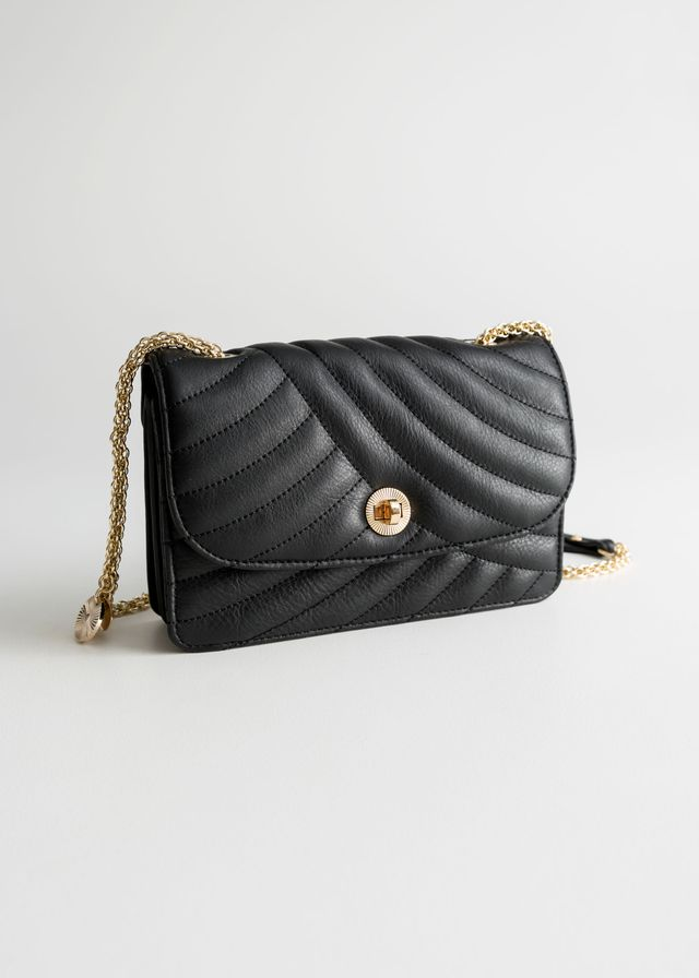 & Other Stories Quilted Small Leather Bag