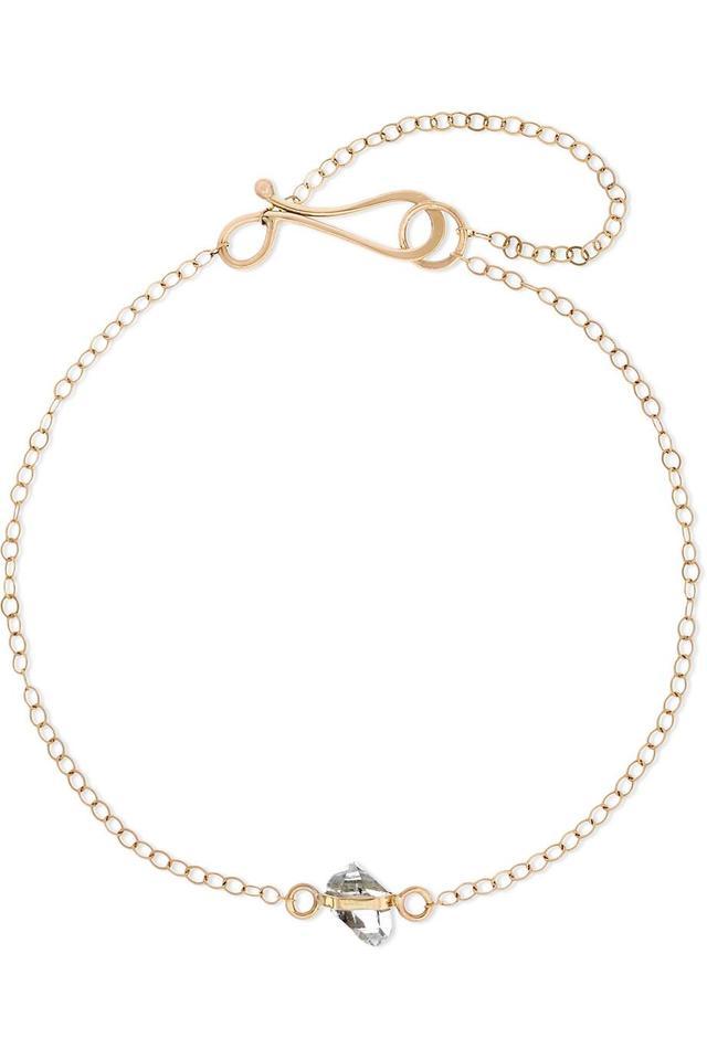 14-karat Gold Herkimer Diamond Bracelet
