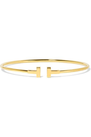 Tiffany & Co. T Wire Narrow 18-Karat Gold Bracelet