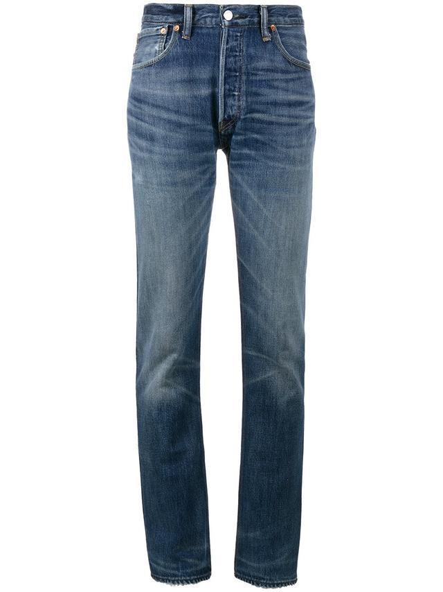 X Cindy Crawford High-Rise Straight Leg Jeans