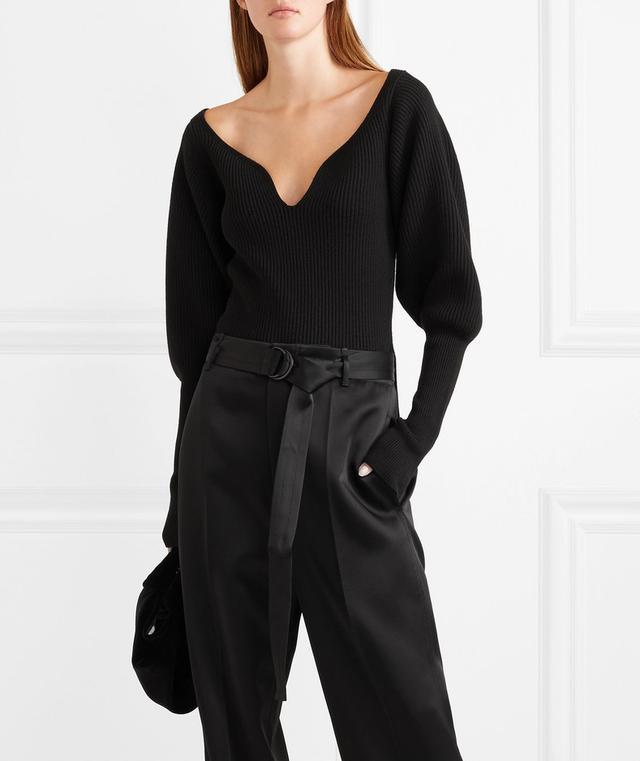 Natasha Ribbed Merino Wool Sweater