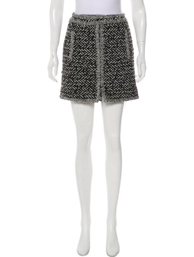 Chanel Metallic Tweed Skirt