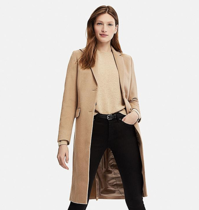 Uniqlo Cashmere Blended Chester Coat