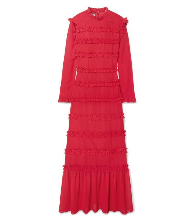 Hadley Ruffled Chiffon Maxi Dress