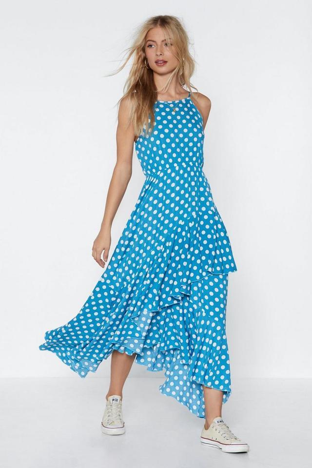 Nasty Gal Positano Polka Dot Maxi Dress