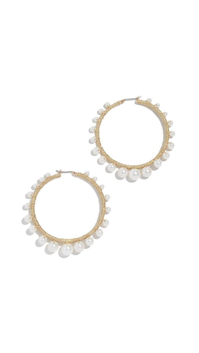 Morroco Pearl Hoop Earrings