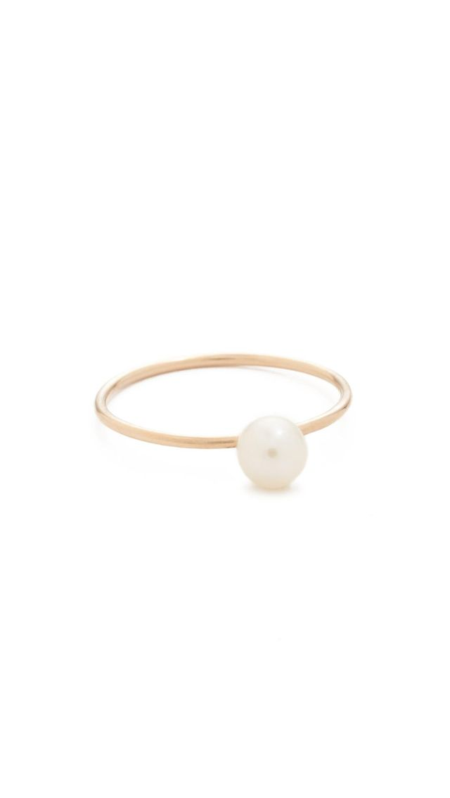 14k Gold Freshwater Cultured Pearl Stacking Ring