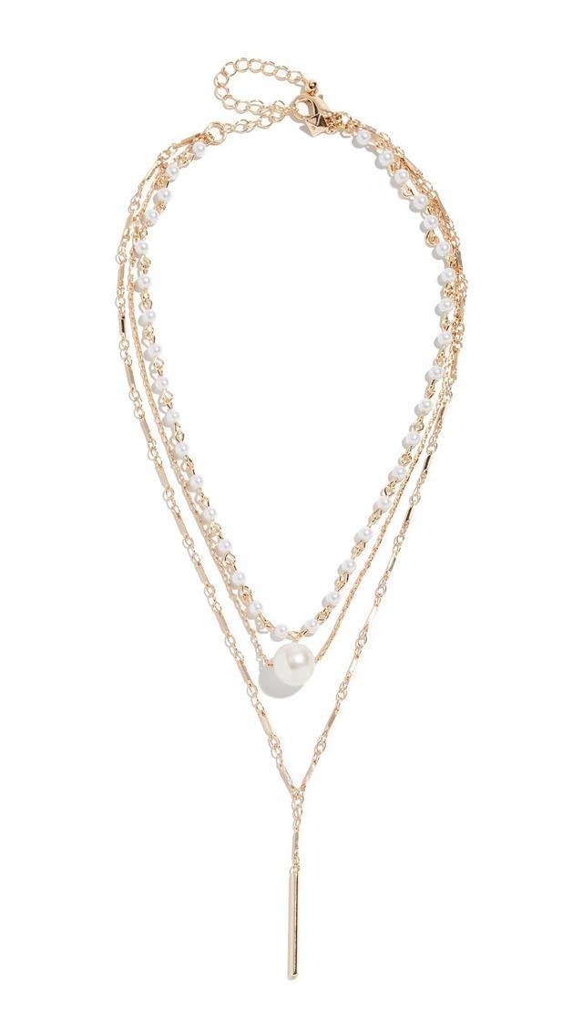 Sophia Solo Pearl Layered Necklace