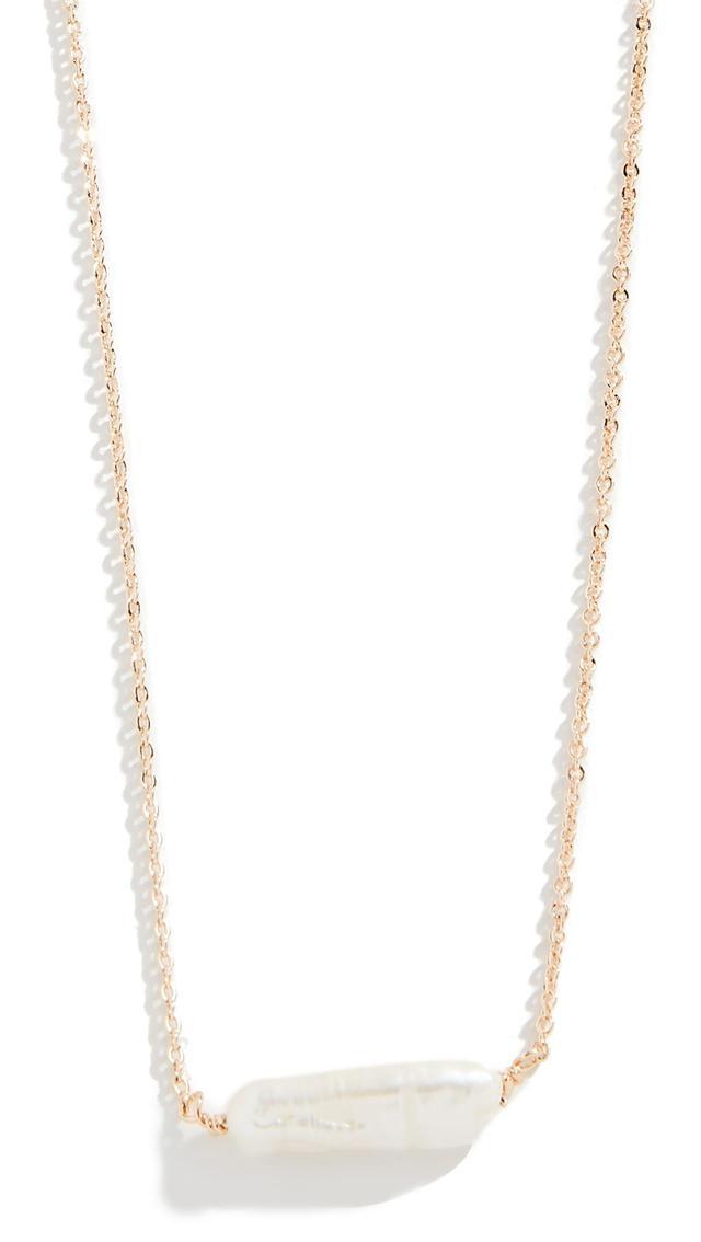 Single Keshi Pearl Necklace