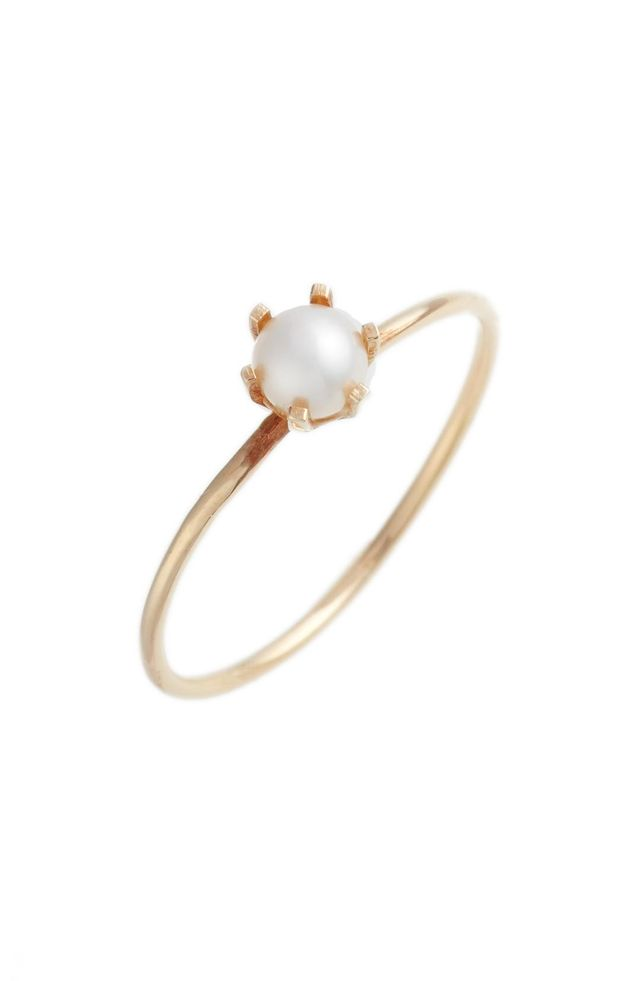 Women's Poppy Finch Pearl Solitaire Ring