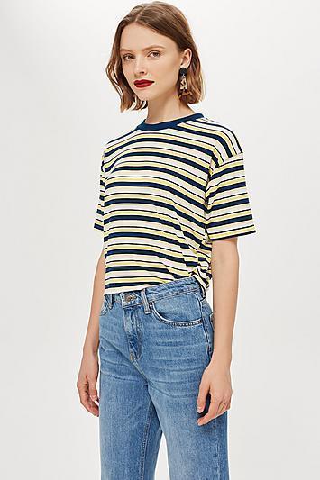 Multicolour Stripe Boxy T-Shirt