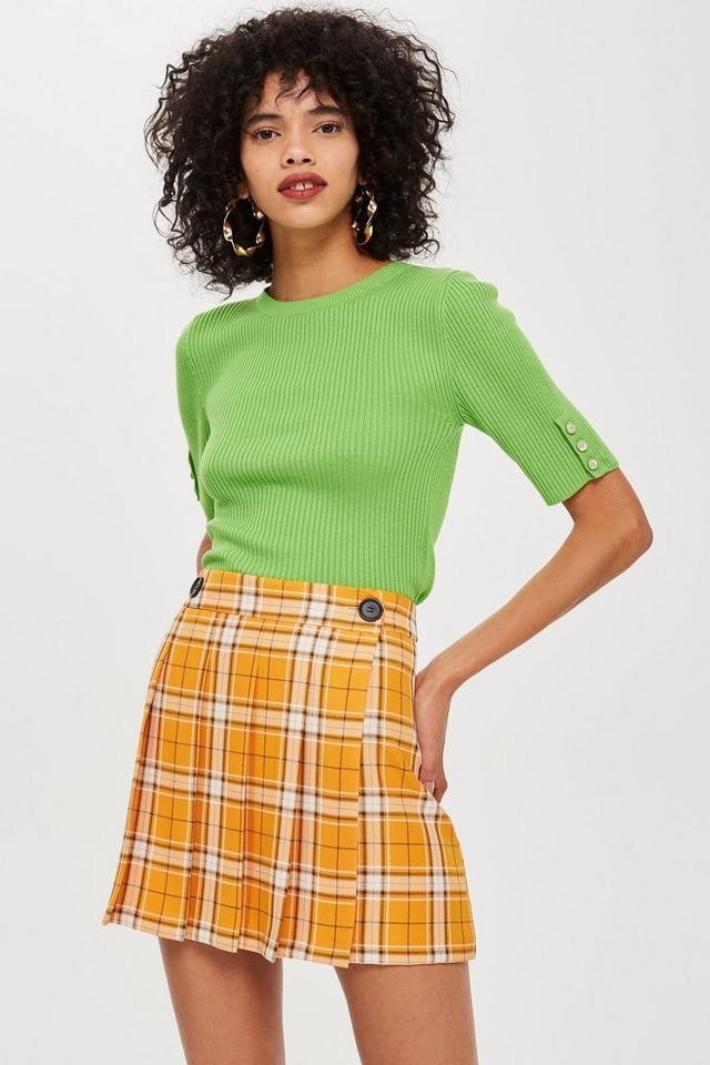 Summer Check Kilt Mini Skirt