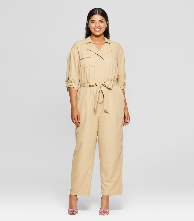 Who What Wear Long Sleeve Utility Jumpsuit
