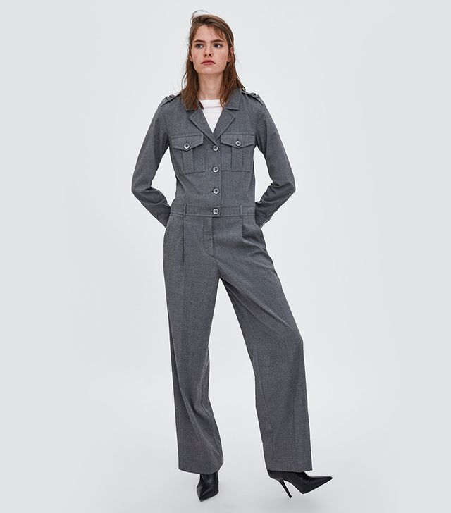 Zara Long Jumpsuit With Pockets