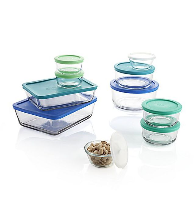 Anchor Hocking ® 20-Piece Glass Storage Set - Crate and Barrel