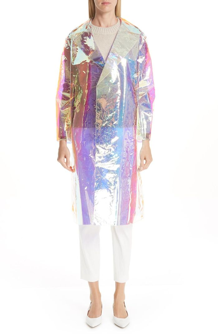 See And Shop Mansur Gavriel S Iridescent Coat Who What Wear