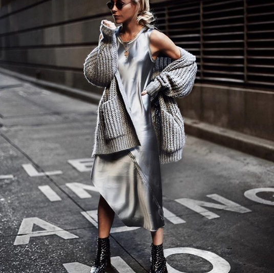The Coolest Metallic Outfits We're Trying This Fall