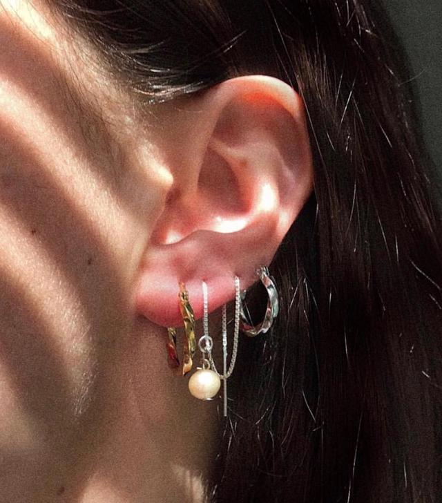 A/N/K Studios Pearl Thread Earrings
