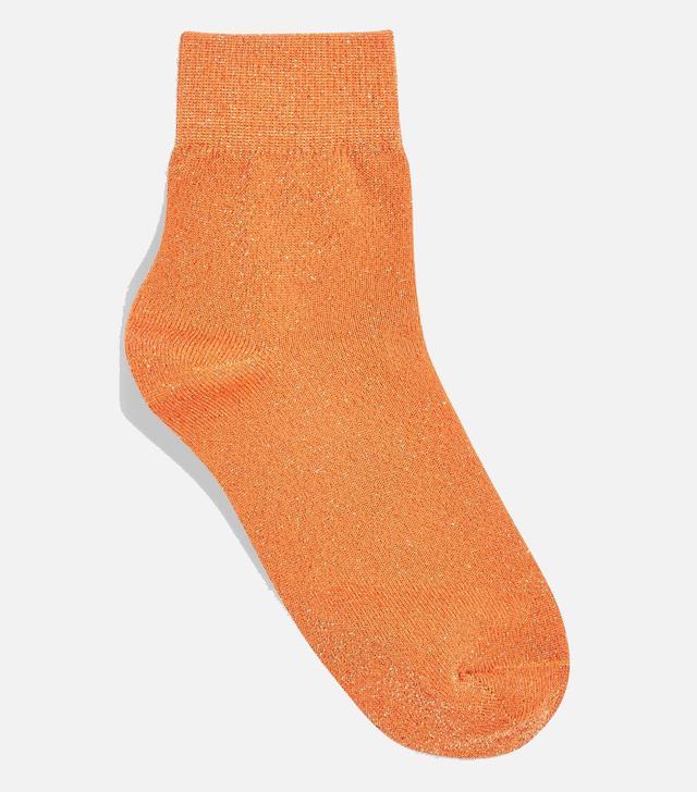 Deep Welt Glitter Socks