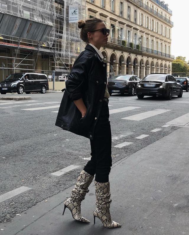 Paris boot trends: snakeskin